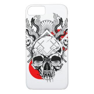 スカルのiPhone 7、やっとそこに場合-炎1 iPhone 8/7ケース