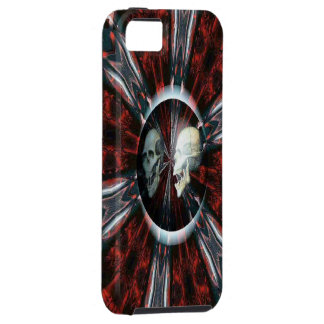スカルのIphone Blood Red 5の箱 iPhone 5 ケース