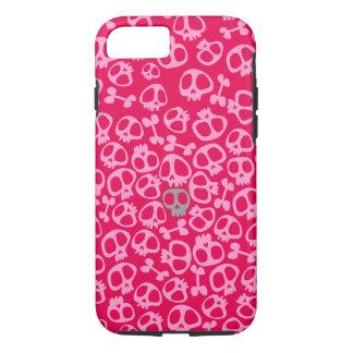スカルのPhonecaseのピンクのsianelliot iPhone 8/7ケース