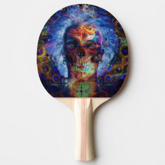 スカルのpsychodelic芸術 卓球ラケット