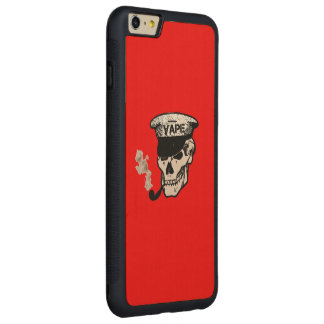 スカルのVapeの赤 CarvedメープルiPhone 6 Plusバンパーケース