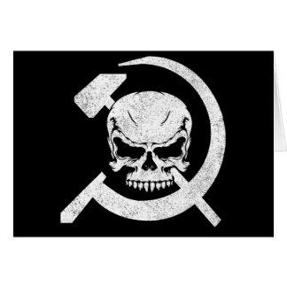 スカルを搭載するソ連国旗 カード