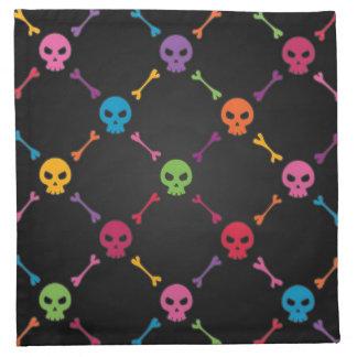 スカルを搭載する多彩なパターン ナプキンクロス