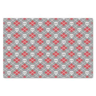 スカルを搭載する編まれたパターン 薄葉紙