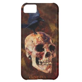 スカル及びゴシック様式カラスのファンタジーの芸術のiPhone 5の場合 iPhone5Cケース