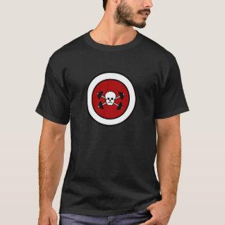 スカル及びバーベルのTシャツ Tシャツ