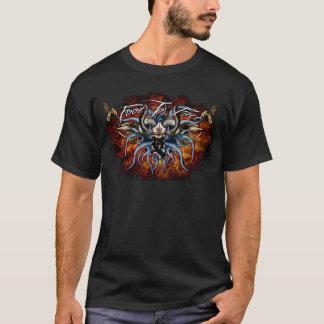 スカル及び触手のロゴ Tシャツ