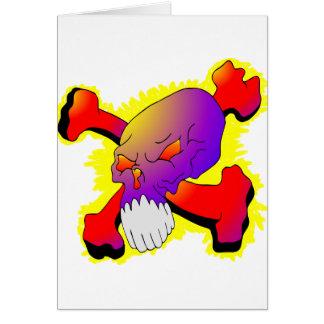 スカル及び骨が交差した図形の入れ墨 カード