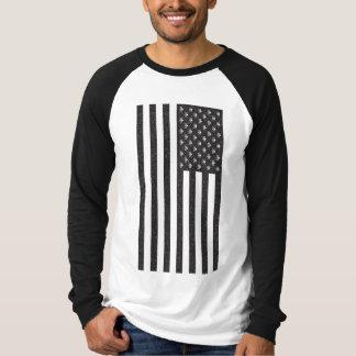 スカル及び骨が交差した図形の米国旗 Tシャツ