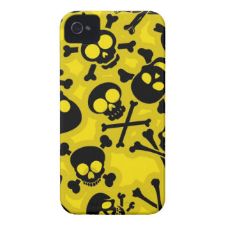 スカル及び骨が交差した図形パターン Case-Mate iPhone 4 ケース