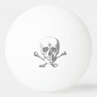 スカル及び骨が交差した図形ビールpong 卓球 玉