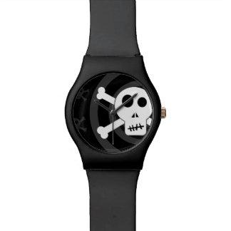 スカル及び骨が交差した図形 腕時計