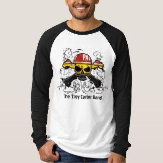スカル及び骨が交差した図形 Tシャツ