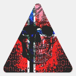 スカル回路(ノルウェー旗) 三角形シール
