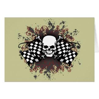 スカル市松模様にされた旗splat カード