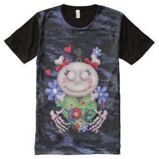 スカル愛人の服装によって印刷されるTシャツ オールオーバープリントT シャツ
