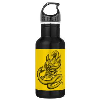 スカル-ヘビが付いている悪魔の頭部 ウォーターボトル