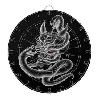 スカル-ヘビが付いている悪魔の頭部 ダーツボード