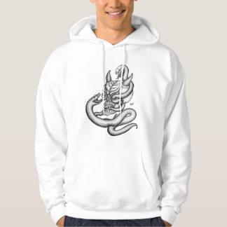 スカル-ヘビが付いている悪魔の頭部 パーカ