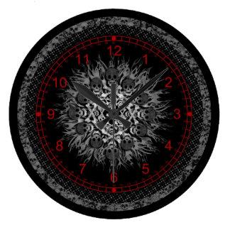 スカル ラージ壁時計