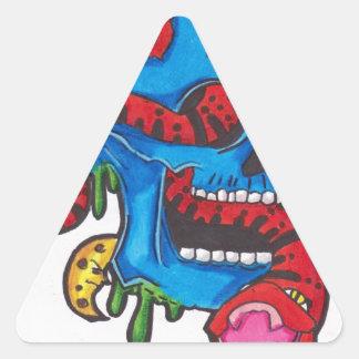 スカル 三角形シール