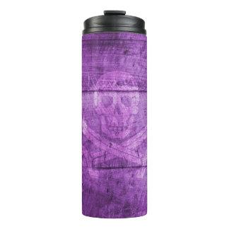 スカル-海賊-紫色-熱タンブラー タンブラー