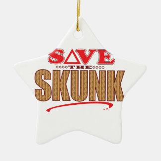 スカンクの保存 セラミックオーナメント