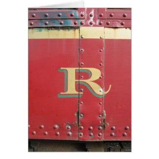 スカンクの列車の手紙R カード