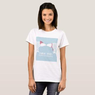スカンジナビアくまの暖かいエスキモーのキスの雪の冬 Tシャツ