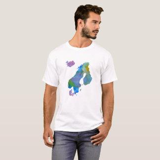 スカンジナビアのシルエット Tシャツ