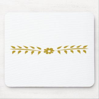 スカンジナビアのモチーフの花のかわいくシンプルなヴィンテージ マウスパッド