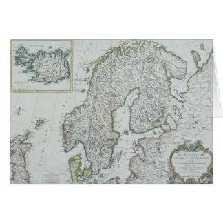 スカンジナビアの地図 カード