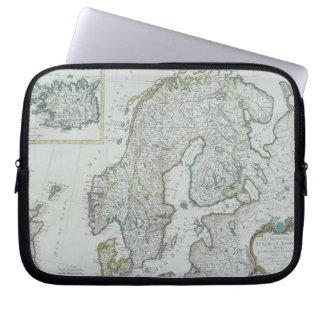 スカンジナビアの地図 ラップトップスリーブ