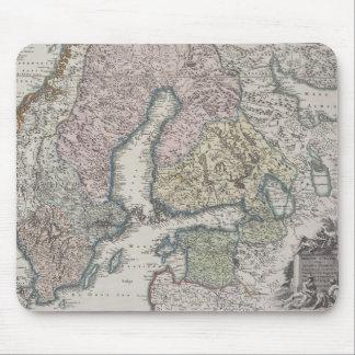 スカンジナビアの旧式な地図 マウスパッド