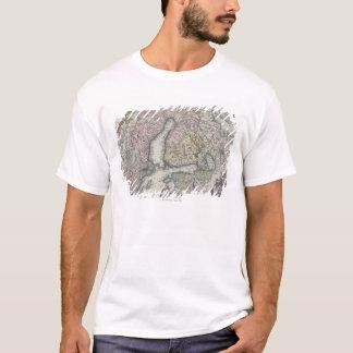 スカンジナビアの旧式な地図 Tシャツ