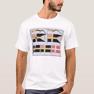 スカンジナビア旗のフランスのな本から、c印を付けます tシャツ