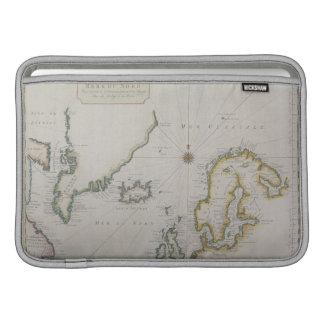 スカンジナビア2の旧式な地図 MacBook スリーブ