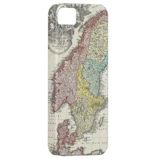 スカンジナビア(1730年)のヴィンテージの地図 iPhone SE/5/5s ケース