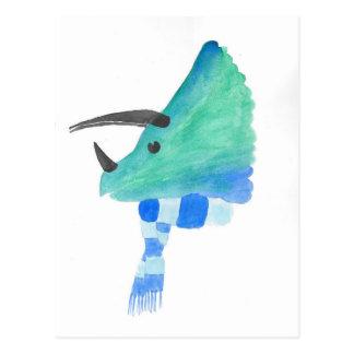 スカーフのトリケラトプス ポストカード