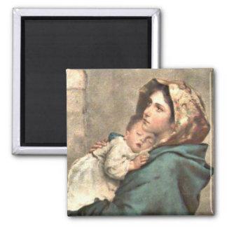 スカーフのマドンナはベビーイエス・キリストを握ります マグネット
