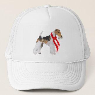スカーフのワイヤーフォックステリア犬 キャップ