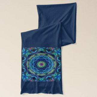 スカーフの曼荼羅の万華鏡のように千変万化するパターン スカーフ