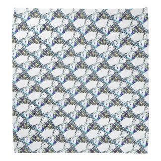 スカーフパターンの白くま バンダナ