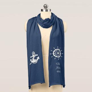 スカーフ-船のいかりおよび舵輪 スカーフ