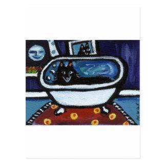 スキッパーキのお洒落な浴室 ポストカード