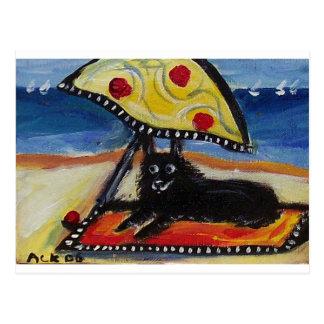 スキッパーキのビーチの恋人 ポストカード