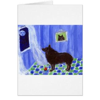 スキッパーキの感覚の微笑の月 カード