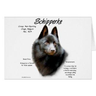 スキッパーキの歴史のデザイン カード