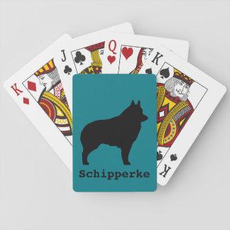 スキッパーキ犬のシルエット トランプ