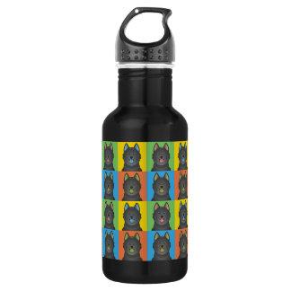 スキッパーキ犬の漫画の破裂音芸術 ウォーターボトル